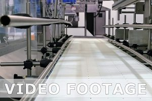 Food factory automated robotic conveyor line