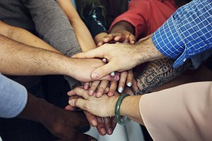 Diverse people teamwork