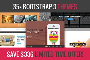 35+ Bootstrap 3 themes deal