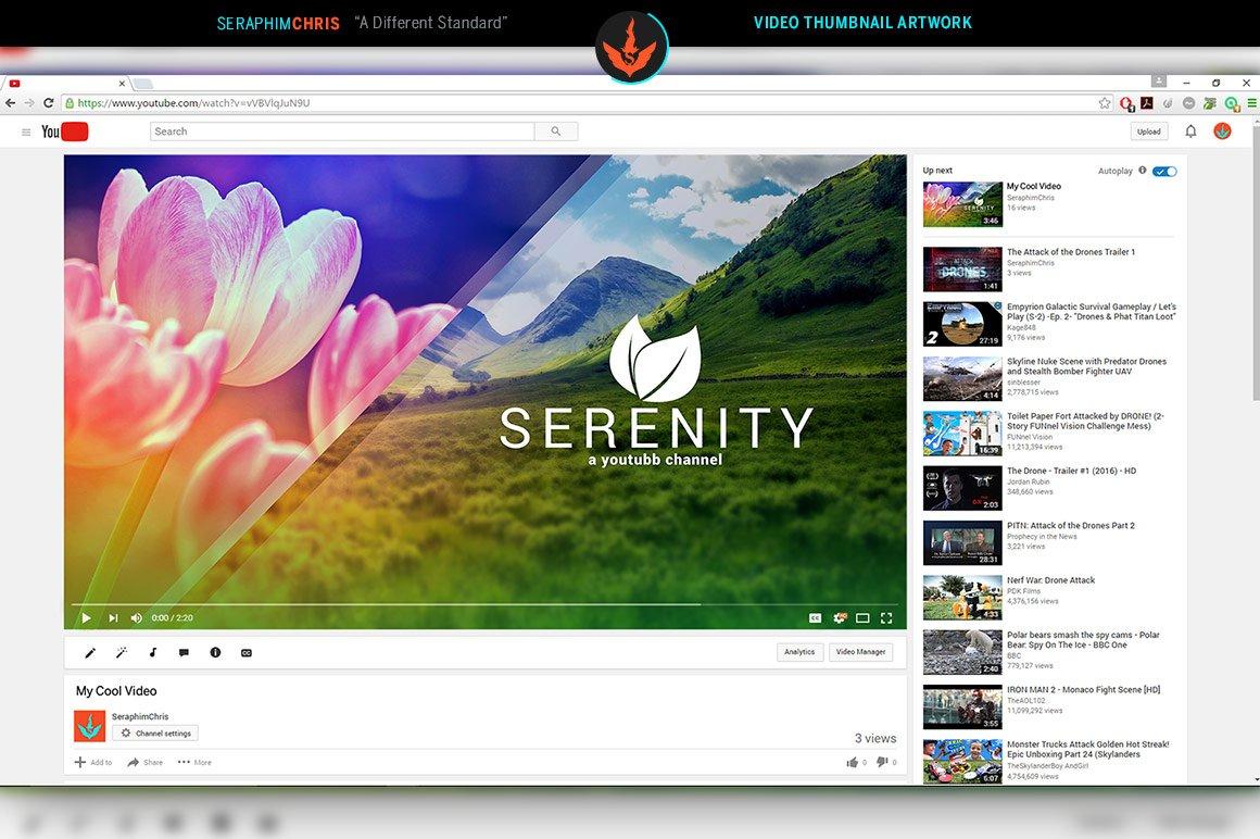 Serenity YouTube Thumbnail Template