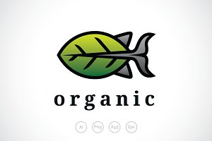 Organic Fish Logo Template