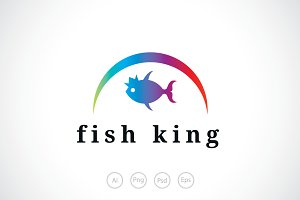 Fish King logo Template