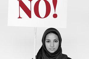 Middle Eastern woman in hijab