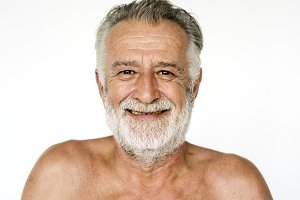 Caucasian elderly man portrait
