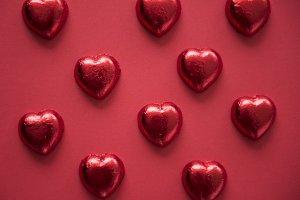 Heart Shaped Chocolate Sweet Pattern