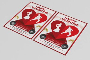 Valentine day party flyer-V65
