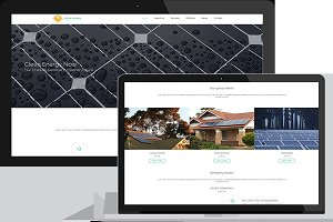 Solar Panels-Solar Energy Template