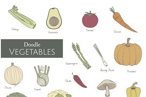 Vector of various vegetables