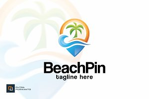 Beach Pin - Logo Template