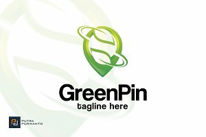 Green Pin - Logo Template