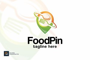 Food Pin - Logo Template