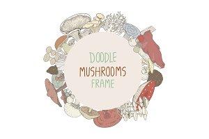 Doodle mushrooms frame