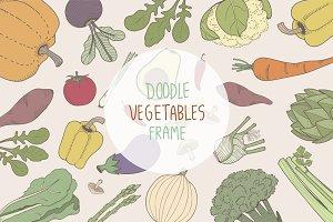Doodle vegetables frame