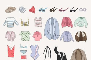 Different types of clothes