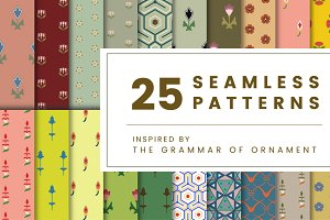 Set of 25 vintage patterns