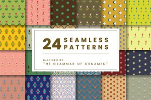 Set of 24 vintage patterns
