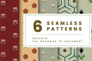Set of 6 vintage patterns