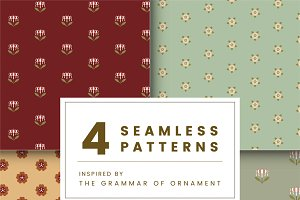 Set of 4 vintage patterns
