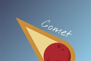 Vector of comet