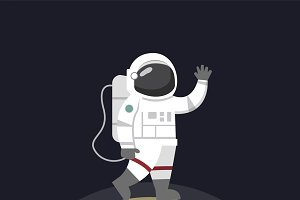 Astronaut on the moon vector