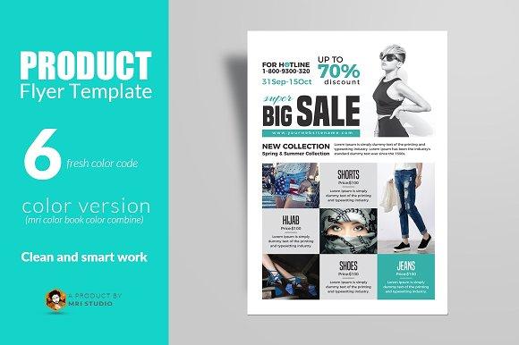 product flyer design template. Black Bedroom Furniture Sets. Home Design Ideas