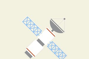 Vector of satellite