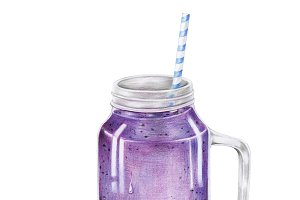 Illustration of fruit smoothie drink