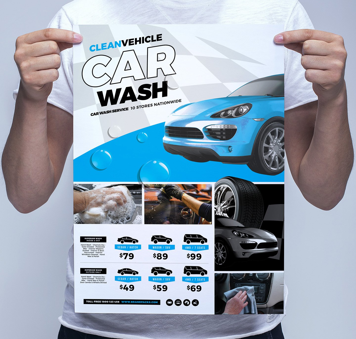 car wash poster template free - car wash poster template flyer templates creative market