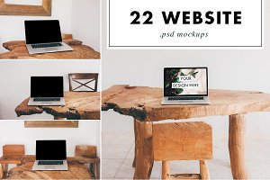 Website Mockups - 22 Different PSD