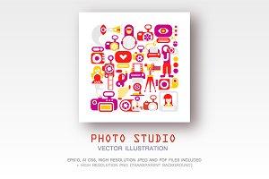 Photo Studio vector illustration