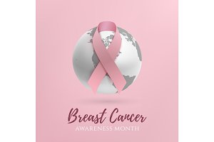 Breast cancer awareness month design.