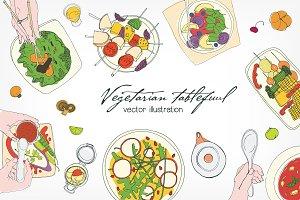 Festive vegetarian table