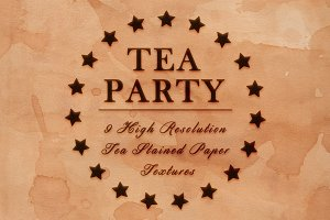 Tea Party - 9 Stained Paper Textures