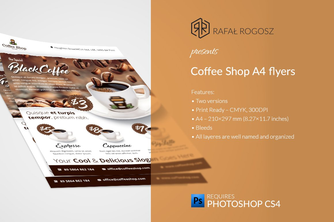 french brochure template - coffee shop flyer templates flyer templates creative