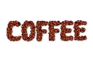 English word COFFEE.