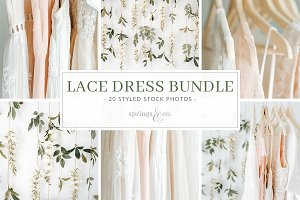 Lace Dress Styled Stock Photo Bundle