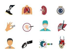 Colored Bioengineering Icon Set