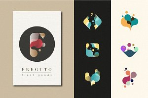 ABSTRACT LOGO SET: Fresh Drops