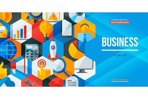 Business forum creative banner