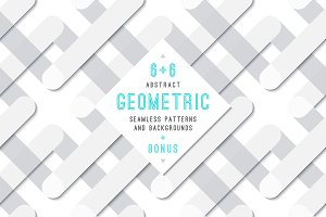 6+6 Geometric abstract backgrounds