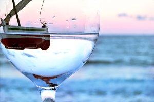 Boat in glass