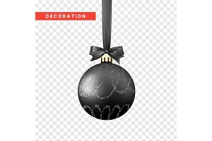 Xmas balls black color.