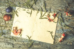 Christmas greeting postal card.