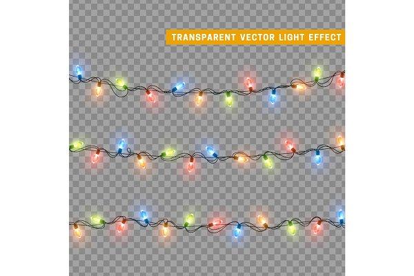Christmas lights. Xmas Garlands