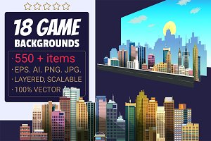 18 Game Backgrounds Pack