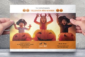 Halloween Mini Session Template-V633