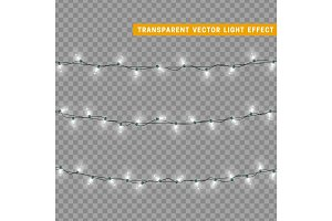 Christmas lights. Xmas Garlands