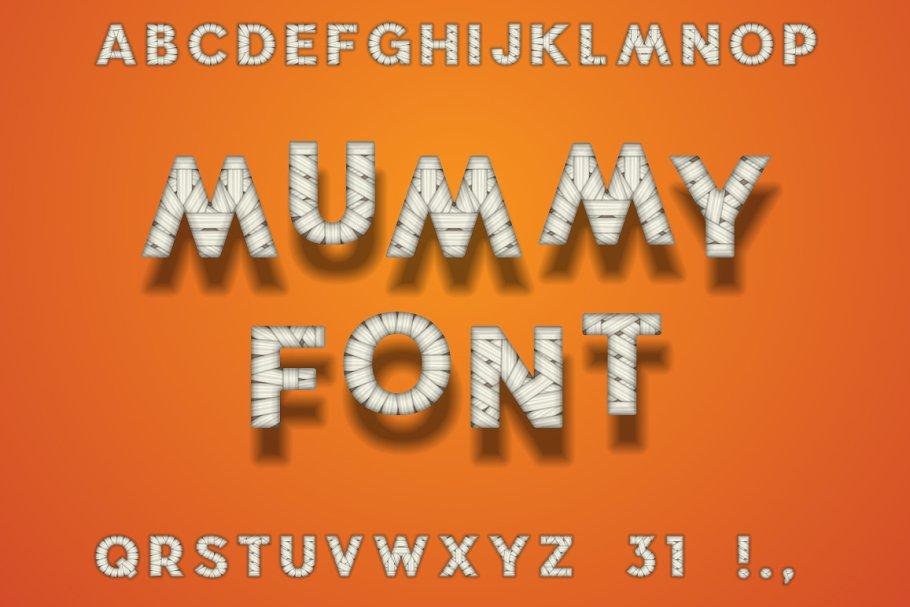 Mummy Bandage Font  Halloween Style
