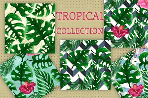 Set of Tropical seamless patterns