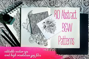 80 B&W Abstract Patterns